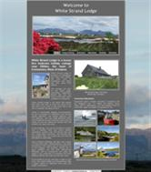 Small Business Website example - White Strand Lodge